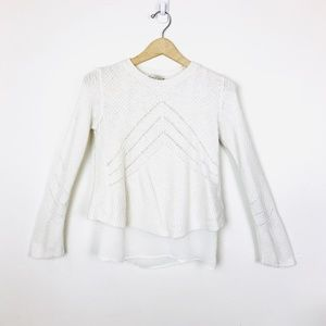 Lucky Brand Sweaters - Lucky Brand White Layered Nico Pullover Sweater